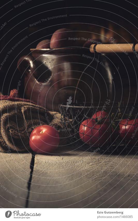 Kartoffel und Tomaten Natur rot Essen Gesundheit Lebensmittel Frucht frisch Ernährung retro Küche Gemüse Bauernhof Bioprodukte Restaurant Geschirr Karriere