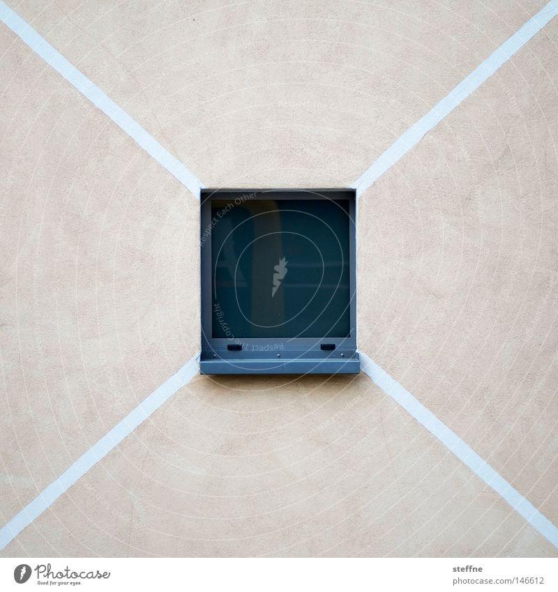Linien III Wand Fenster Linie Geometrie graphisch wenige sehr wenige reduzieren minimalistisch