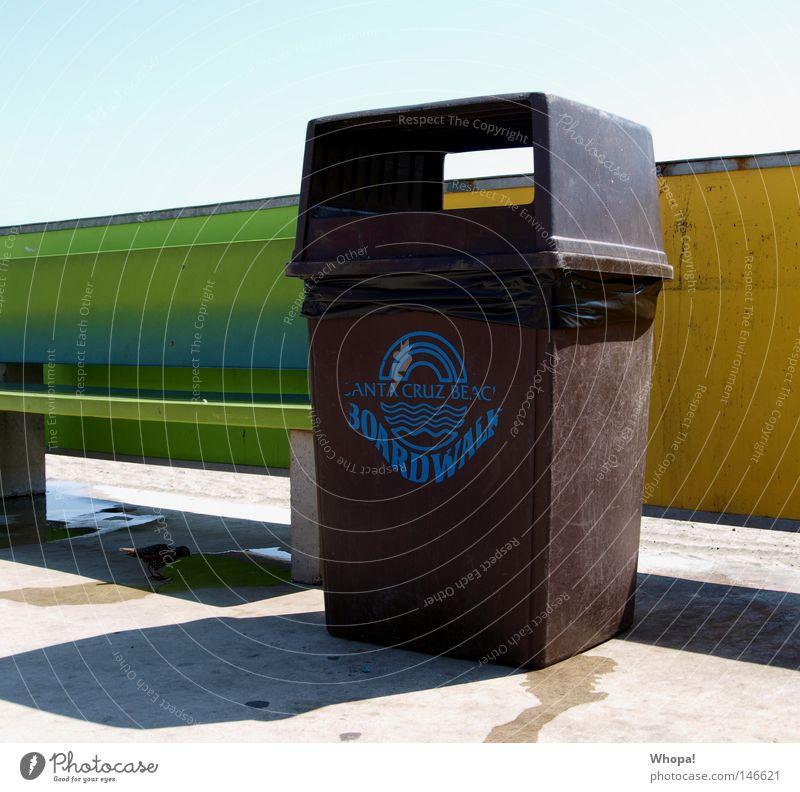 CALIFORNIA L-O-V-E - I Meer Strand USA Bank Müll Galapagosinseln Müllbehälter Kalifornien Pazifik Südamerika Santa Cruz
