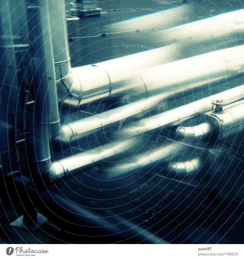 Return of the Prisma Wasser grün Wärme Luft Raum Metall glänzend Industrie Weltall Röhren Installationen Kontrolle silber atmen Gas Surrealismus