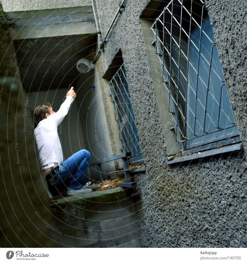 peff Mensch Mann Stadt Hand Haus Fenster Berge u. Gebirge Gefühle fliegen See Linie Fassade springen Luft Freizeit & Hobby frisch