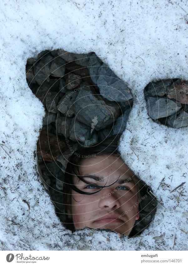 Ötzi Mensch Meer Winter Gesicht Auge kalt Schnee Berge u. Gebirge Haare & Frisuren Stein Mund Eis dreckig Nase