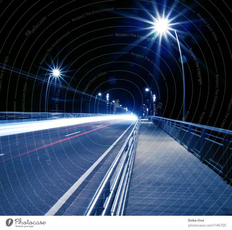 bridgelights 2 dunkel PKW Beleuchtung Brücke Bürgersteig Geländer Nacht Straßenbeleuchtung Trennung Motorsport Fahrzeugbeleuchtung