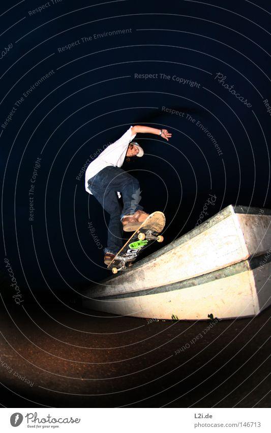 5-0 @ NIGHT Hand Freude Sport Spielen springen Metall Park Aktion Lifestyle T-Shirt Skateboarding Punk Rolle Hardcore extrem Rutsche
