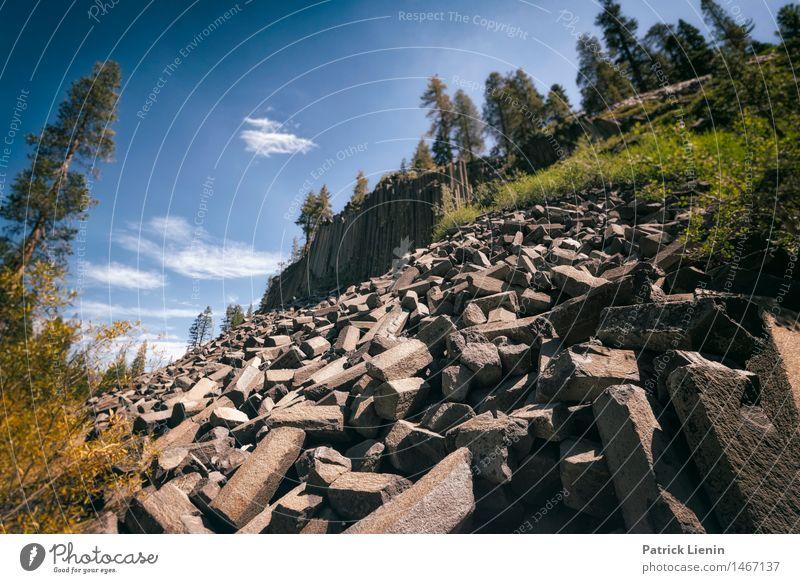 Devils Postpile National Monument Ferien & Urlaub & Reisen Abenteuer Sommer Berge u. Gebirge wandern Umwelt Natur Landschaft Urelemente Erde Himmel Klima
