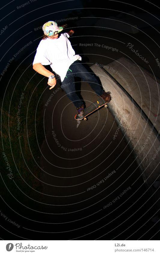 HECK-RUTSCHER @ NIGHT Hand Freude Sport Spielen springen Metall Park Aktion Lifestyle T-Shirt Skateboarding Punk Rolle Hardcore extrem Rutsche