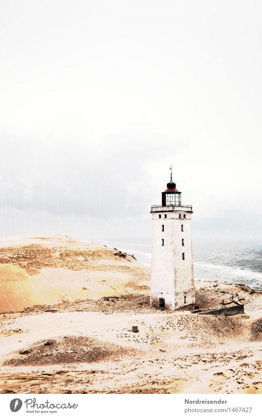 Rubjerg Knude Fyr Ferien & Urlaub & Reisen Tourismus Meer Urelemente Küste Nordsee Menschenleer Ruine Leuchtturm Bauwerk Gebäude Architektur Sehenswürdigkeit