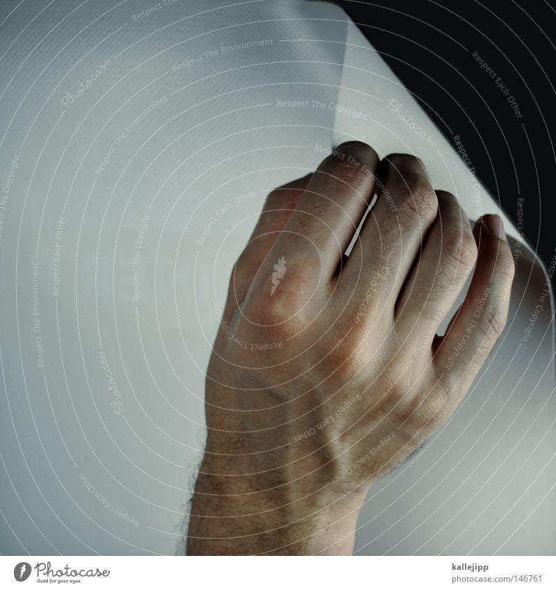 black or white Mann Mensch Neugier entdecken forschen Blatt Buchseite Finger Hand Zeigefinger Plakat plakatieren aufklappen Handrücken Gefäße aufgeladen