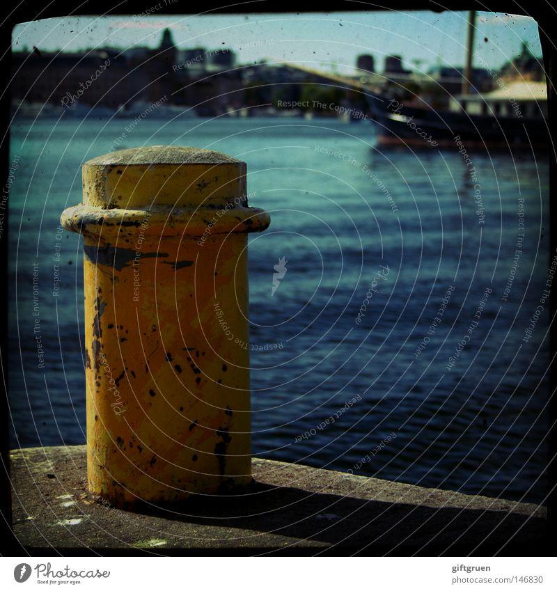 cast off! Wasser Meer Ferien & Urlaub & Reisen Wasserfahrzeug Hafen Segeln Anlegestelle Schifffahrt Fernweh Navigation Afrika Seemann Kapitän Schiffsbug Mole