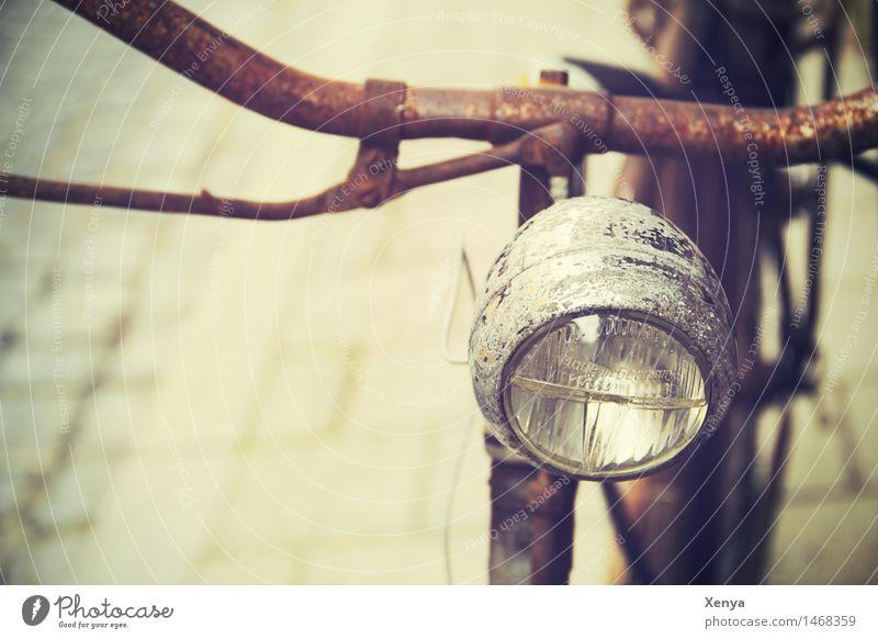 Designrost Lampe braun Metall Fahrrad retro Rost Nostalgie Fahrradlenker Fahrradlicht