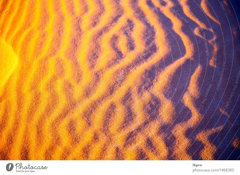 in der Sahara-Marokko-Wüste schön Ferien & Urlaub & Reisen Tapete Natur Landschaft Sand Schönes Wetter Urwald Hügel heiß blau braun gelb Einsamkeit Idylle wüst
