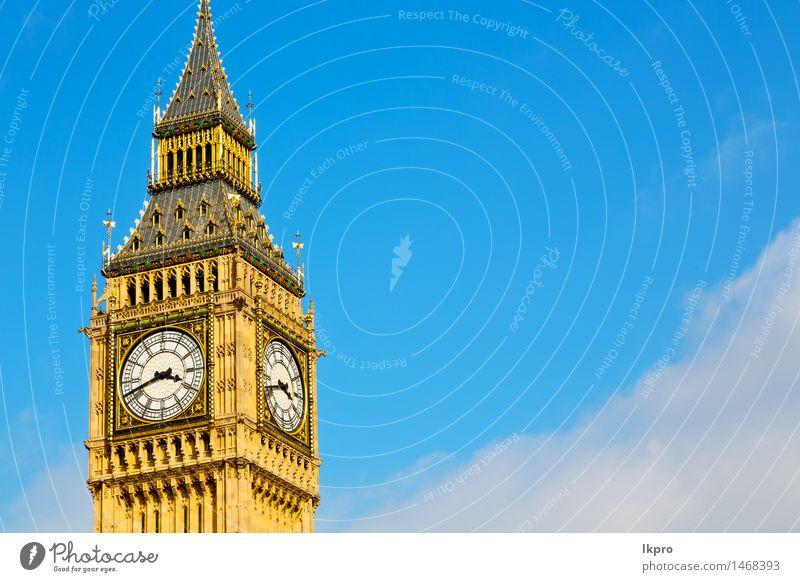 und historische alte Bau England Stadt Ferien & Urlaub & Reisen Tourismus Berge u. Gebirge Haus Uhr Himmel Wolken Palast Gebäude Architektur Denkmal schwarz