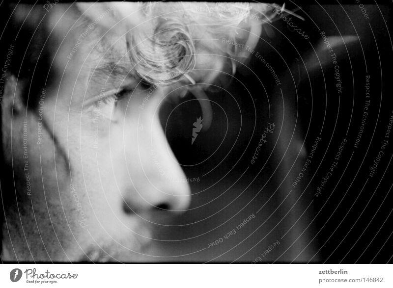 Tausend (1000) Profil Auge Augenbraue Wimpern Nase Mund Bart Haare & Frisuren Blick entdecken Perspektive Vogelperspektive Wachsamkeit Suche Dinge Mensch