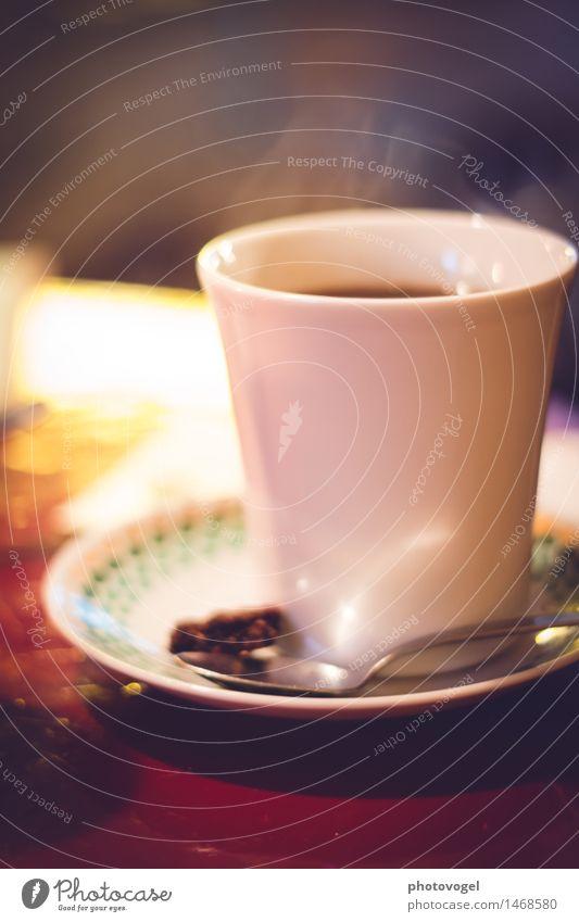 Kaffee-Duft Ernährung Frühstück Getränk Heißgetränk Geschirr Tasse Löffel Erholung genießen trinken Flüssigkeit heiß lecker Zufriedenheit Lebensfreude