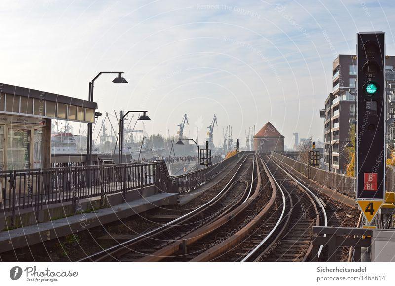 Baumwall Station Hafenstadt Industrieanlage Fabrik Bahnhof Bauwerk Architektur bahnschienen Verkehr Verkehrsmittel Personenverkehr