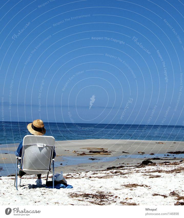 CALIFORNIA L-O-V-E - IV Meer Strand Erholung Küste USA Stuhl Hut genießen Kalifornien Pazifik Sonnenhut Monterey