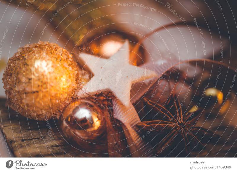 Weihnachtsdekoration Stadt Weihnachten & Advent schön weiß Stil braun Stimmung Design orange glänzend leuchten Dekoration & Verzierung elegant gold Kreativität