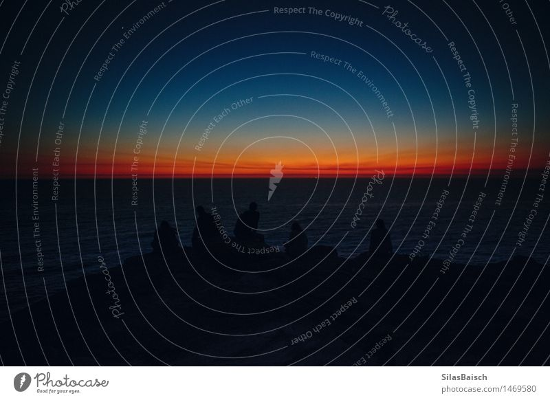 Auf Sonnenaufgang warten Lifestyle Ferien & Urlaub & Reisen Tourismus Ausflug Abenteuer Ferne Freiheit Meer Insel Wellen Mensch 5 Umwelt Natur Landschaft
