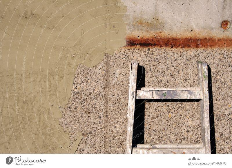 .:: besser ANgelehnt als ABgelehnt ::. Wand Klärwerk Arbeit & Erwerbstätigkeit Beton Handwerk Leiter Stein Spachtel Anstreicher Rost