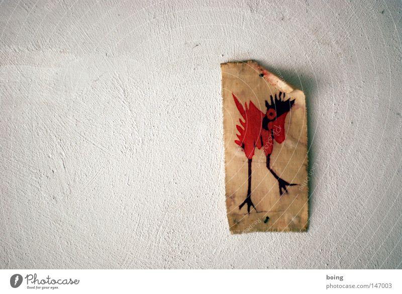 Vogelmuseum Tuttlingen Wand Kunst Hoffnung Stoff Haushuhn Hahn Kunsthandwerk Stoffmuster Gezwitscher Wanddekoration Paradiesvogel Batik Wandschmuck Bachstelze
