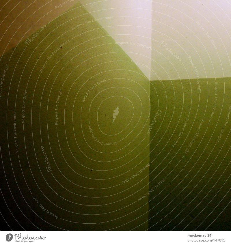Geo Strukturen & Formen Farbe Bad Treppe grün weiß Ecke dunkel Wohnung Architektur