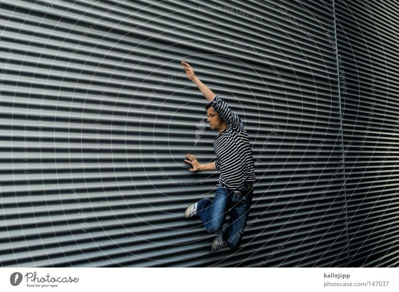 streifzug Mensch Mann Hand Haus Fenster Berge u. Gebirge Gefühle Architektur springen See Luft Linie Tanzen Glas fliegen Fassade