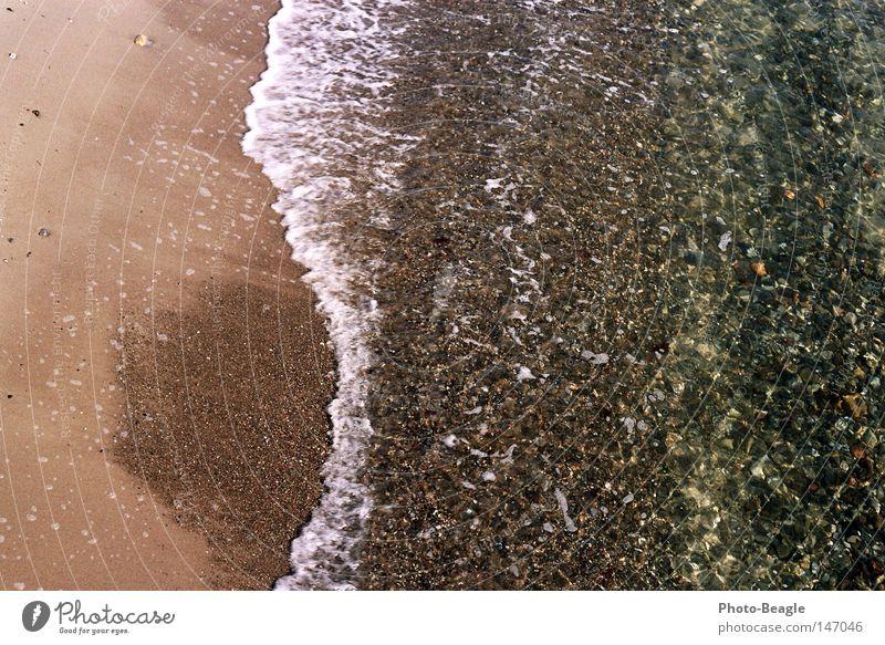 Brandung See Meer Ostsee Wasser Strand Wellen Sand Stein Muschel nass Meerwasser Gischt Ferien & Urlaub & Reisen seaside wave waves holiday holidays vacation