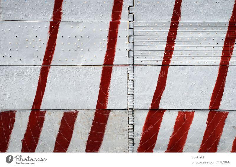 gesamtkunstwerk Hand weiß rot Wand Linie Metall Kunst Architektur Hintergrundbild Schilder & Markierungen Industrie Baustelle Metallwaren Italien Bild streichen