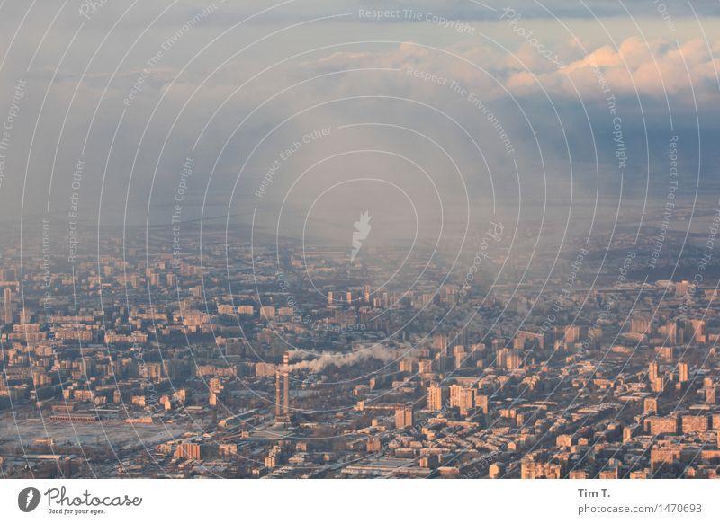 Mein Sofia Umwelt Himmel Klimawandel Bulgarien Stadt Hauptstadt Stadtzentrum Skyline Haus Hochhaus Industrieanlage Architektur Handel Umweltverschmutzung
