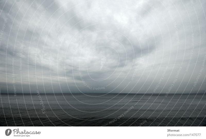 ostsee blau Ferien & Urlaub & Reisen Meer Winter Wolken Einsamkeit schwarz ruhig Ferne Herbst kalt Gefühle grau Erde See träumen