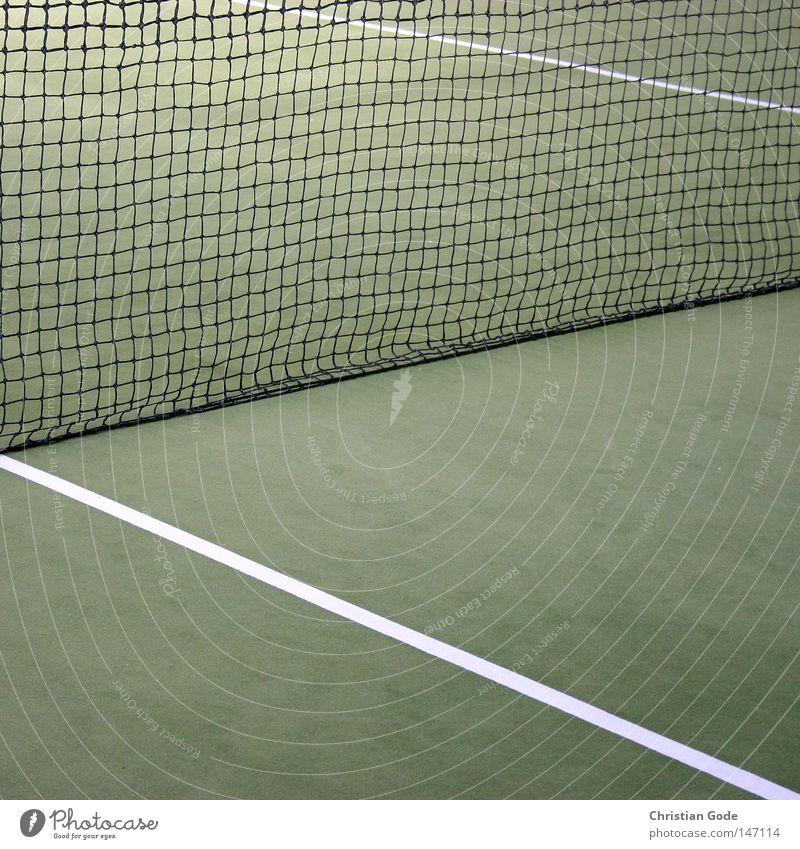 15:0 Tennis Teppich Winter Winterpause reserviert grün Linie weiß Geschwindigkeit Spielen Tennisschläger Spieler 2 Aufschlag springen Erfolg Netz Sport Halle