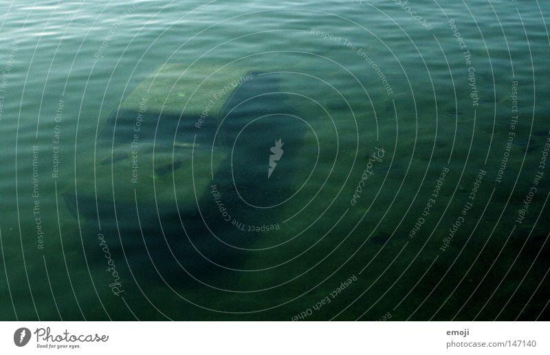 Unterwasserwelt Wasser alt Meer grün See PKW Unterwasseraufnahme unten Rost Fahrzeug