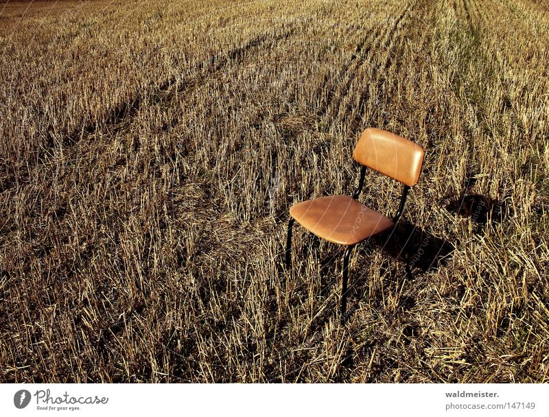 Montags-Stuhl Erholung Feld Pause Ernte Sitzgelegenheit Landwirtschaft