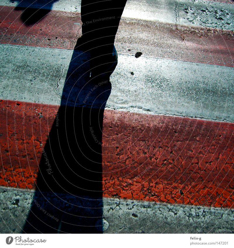 Polnischer Zebrastreifen Mensch weiß grün Stadt rot Straße gehen laufen rennen Asphalt Dorf Verkehrswege Ampel Mischung Osten Polen