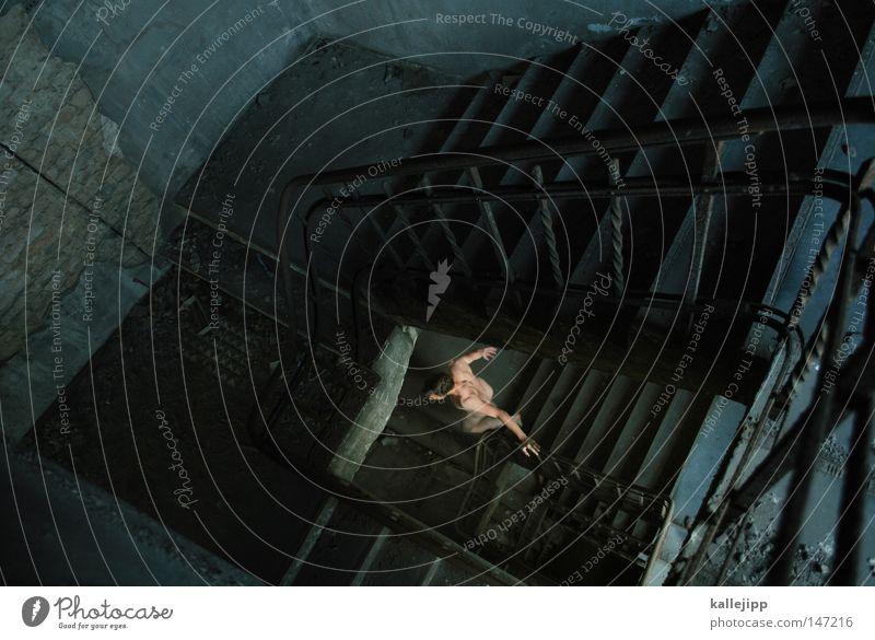 auf dem weg zur arbeit was vergessen Mensch Mann Wasser Fenster Farbstoff oben gehen Raum Treppe Angst Erfolg Perspektive Hoffnung Vergangenheit Gastronomie