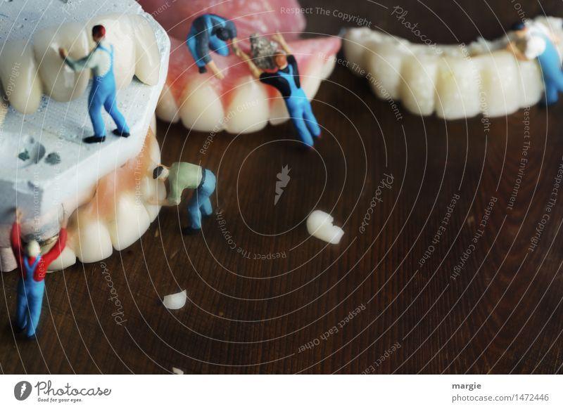 Miniwelten - Professionelle Zahnreinigung Körperpflege Gesundheitswesen Modellbau Beruf Handwerker Arzt Mensch maskulin Mann Erwachsene Zähne 6