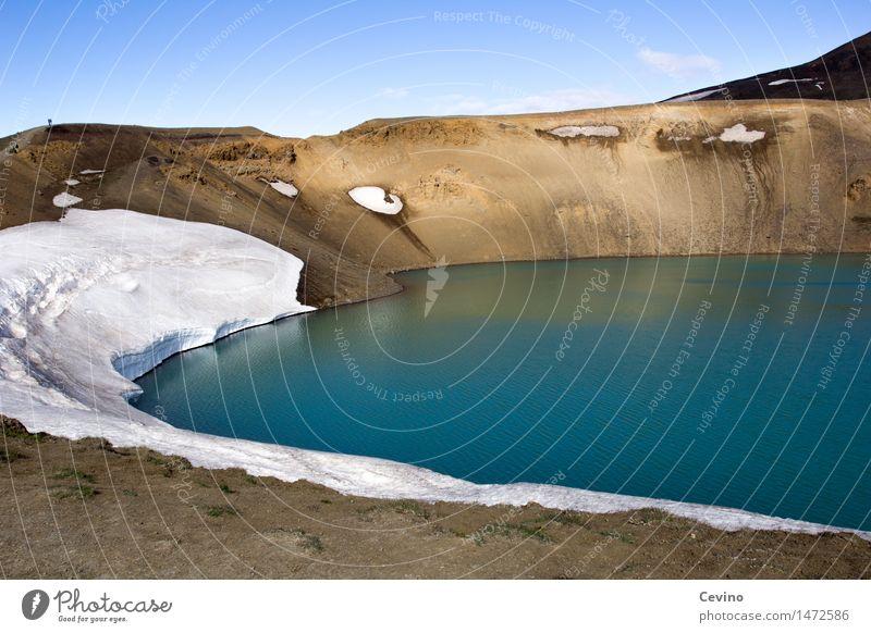 Isländische Kontraste Himmel Natur Ferien & Urlaub & Reisen Wasser Landschaft Umwelt Schnee Tourismus Freiheit See Ausflug Luft Abenteuer Schönes Wetter Klima