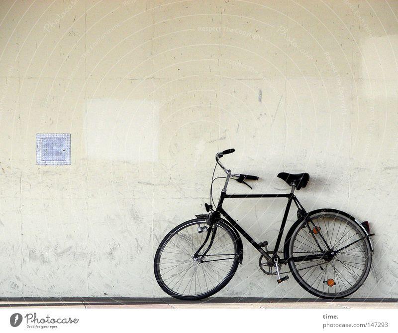 Fietse, sich etwas ausruhend Haus Wand Spielen Mauer Gebäude Fahrrad warten dreckig Freizeit & Hobby ökologisch parken Gitter anlehnen Potsdam Verkehrsmittel Fahrradlenker