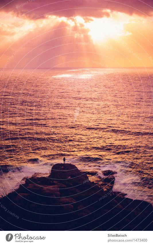 Öffne den Himmel Mensch Natur Ferien & Urlaub & Reisen schön Sommer Meer Landschaft Wolken Freude Ferne Berge u. Gebirge Lifestyle Freiheit Stimmung glänzend