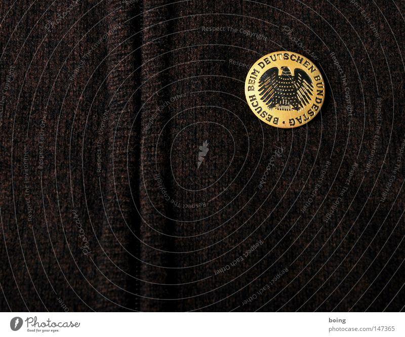 BRD Merchandising Medaille Anstecknadel Brosche Anstecker Stecknadel Erinnerung Souvenir Deutschland Bundesadler Adler Fetthenne Parteien Politik & Staat wählen