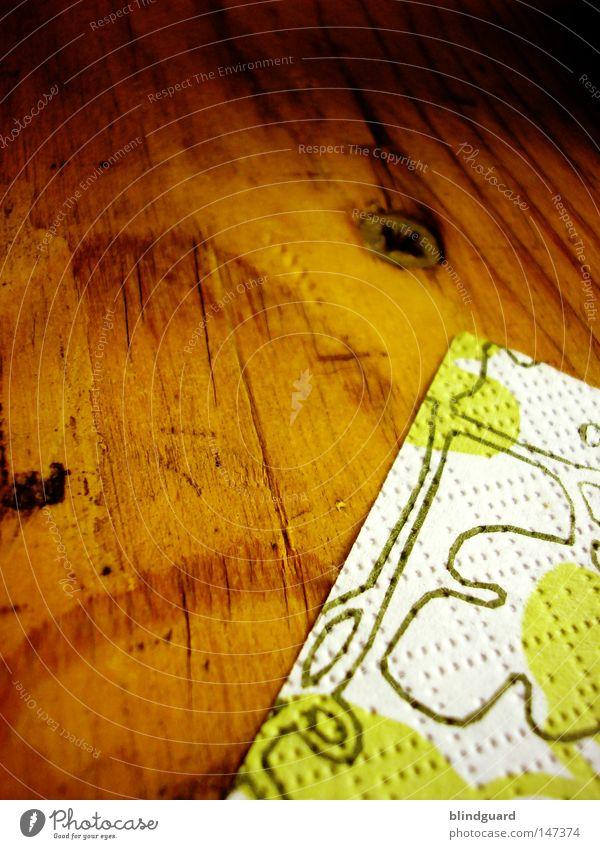 Party Minimalismus grün Blatt Holz Feste & Feiern braun Tisch Ecke Gastronomie Veranstaltung Jahrmarkt Schraube Druck Tischwäsche Ranke Maserung sehr wenige