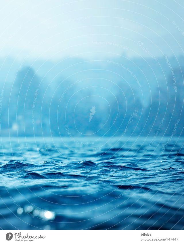 The blue way of life... Himmel Natur grün Wasser Einsamkeit ruhig dunkel Berge u. Gebirge kalt Leben Hintergrundbild grau See Stein Erde Felsen