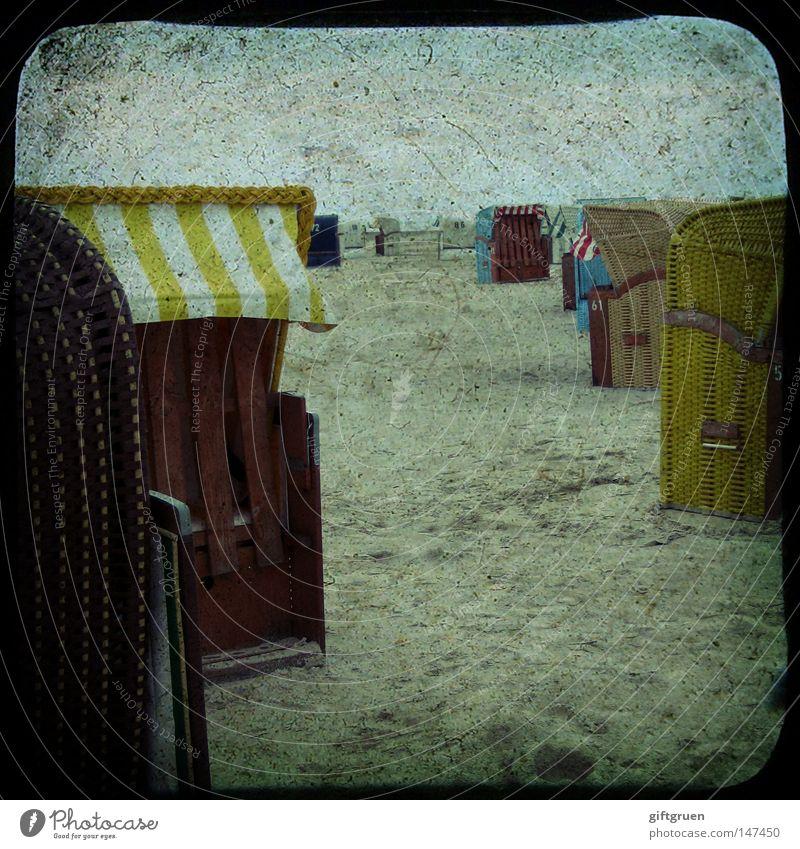 letzte sommertage Meer Sommer Strand Ferien & Urlaub & Reisen Erholung Sand Küste Freizeit & Hobby Strandkorb Sandstrand