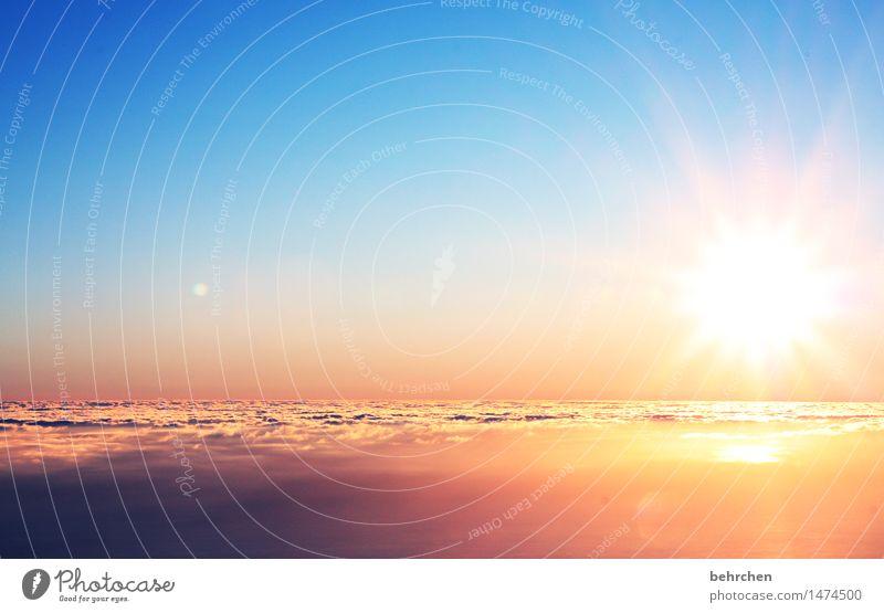 träume leben... Himmel Natur Ferien & Urlaub & Reisen blau schön Sommer Landschaft Wolken Ferne Berge u. Gebirge außergewöhnlich Freiheit Horizont orange