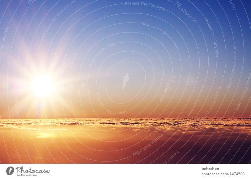hinterm horizont... Himmel Natur Ferien & Urlaub & Reisen blau Sommer schön Meer Landschaft Wolken Ferne Küste Freiheit Horizont Tourismus orange träumen