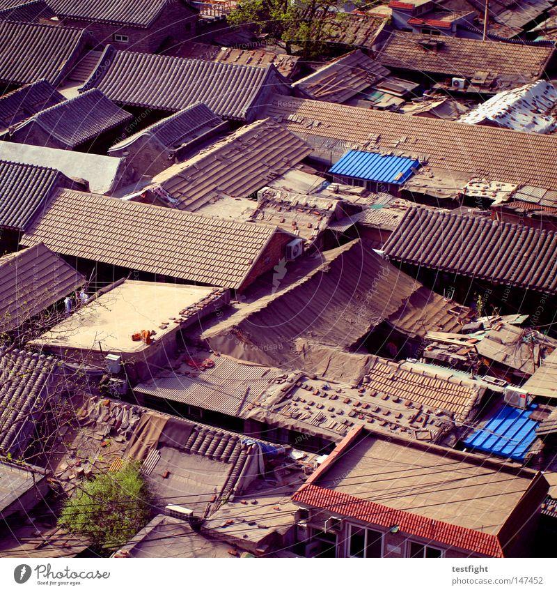 bebauungsplan alt Haus Leben Architektur Ecke Dach bedrohlich einfach China historisch Verkehrswege eng bauen simpel Altstadt