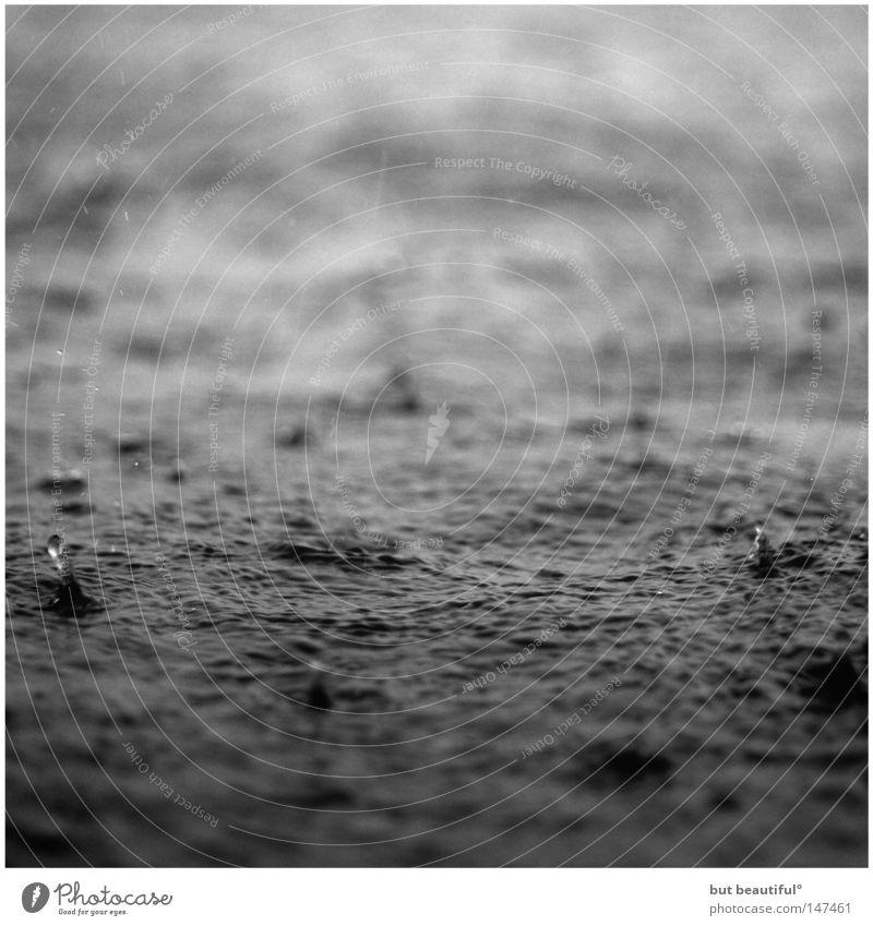 poetry° Einsamkeit Meer Stimmung Wasser Seele Regen Schwarzweißfoto Traurigkeit