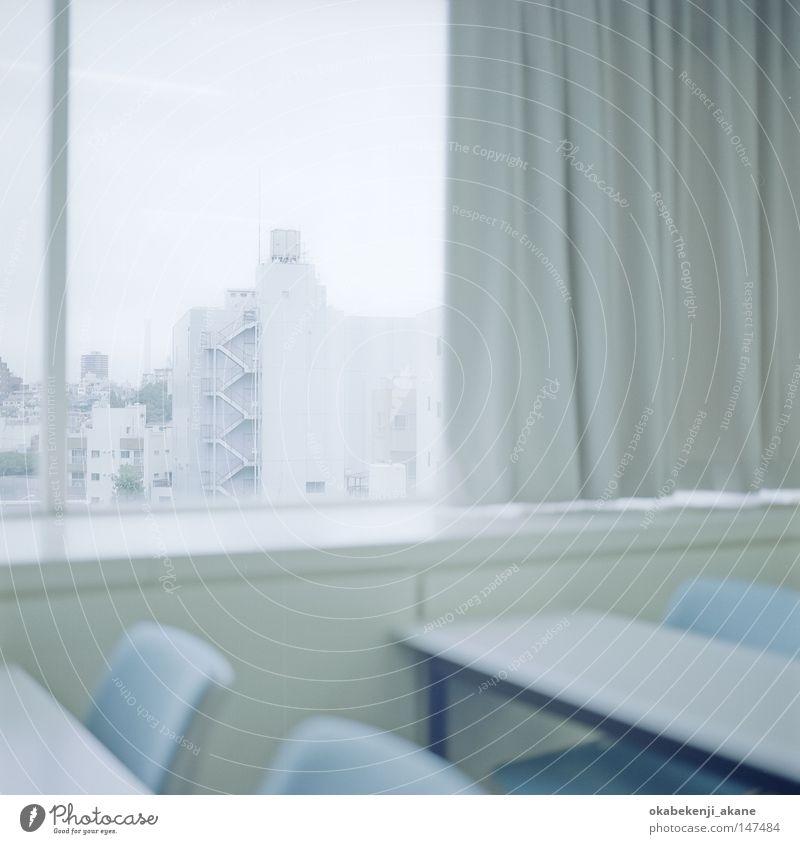 weiß blau Gebäude Luft Schulgebäude Studium Bauwerk Bildung bleich Schulunterricht Tokyo Asien Japan Stimmungsbild