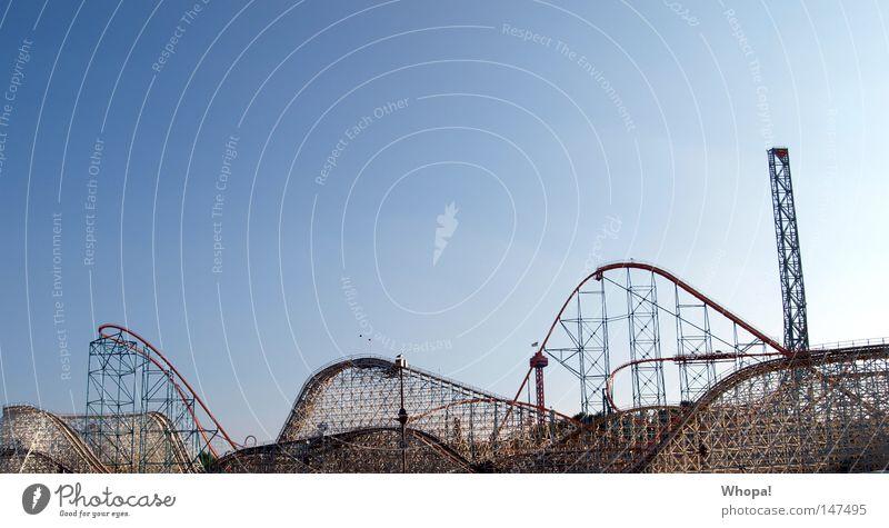 CALIFORNIA L-O-V-E - VI Achterbahn Vergnügungspark aufregend fantastisch Geschwindigkeit David und Goliath Ninja Natter USA Rollercoaster Freude Fun Mordsgaudi