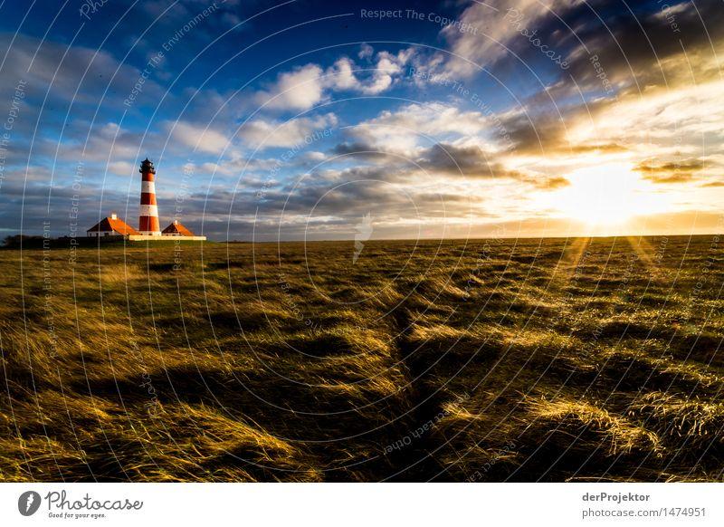 Leuchtturm Westerhever an der Nordsee im Watt im winter Ferien & Urlaub & Reisen Tourismus Ausflug Abenteuer Ferne Freiheit Sightseeing wandern Umwelt Natur